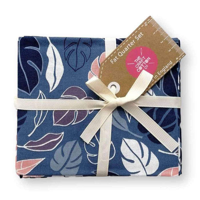 Botanical Elements Navy Fat Quarter Bundle of 5