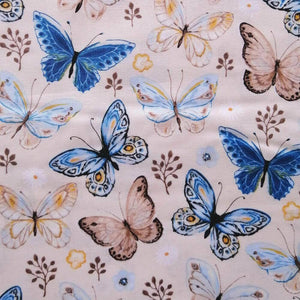 Cream Butterfly Cotton Print | Ab Fab Textiles
