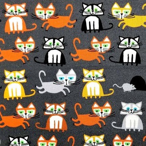 Cats by Ed Emberley - 100% Organic Cotton | Ab Fab Textiles