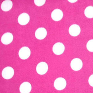 Cerise Giant Spots Anti Pilling Polar Fleece | Ab Fab Textiles