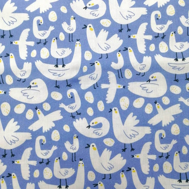 Chicken and Eggs Cotton Print - Extra Wide | Ab Fab Textiles