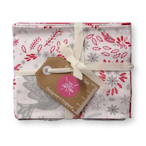 Christmas Dove Red Fat Quarter Bundle of 5 | Ab Fab Textiles