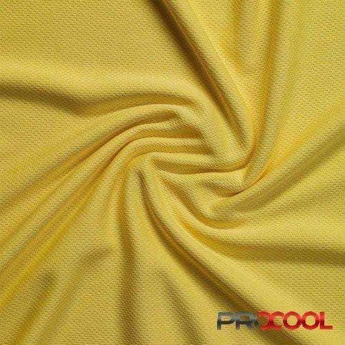 Citron Yellow ProCool® Athletic Jersey Mesh Fabric | Ab Fab Textiles