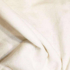 100% Cotton Flannel - White | Ab Fab Textiles