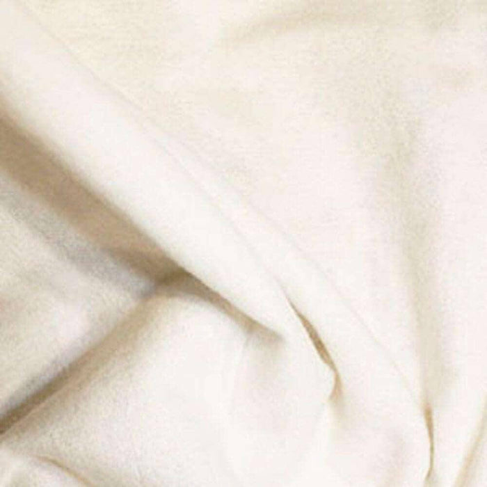 100% Cotton Flannel - White
