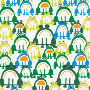 Frogs by Ed Emberley - 100% Organic Cotton - Cloud9 Fabrics - Ab Fab Textiles