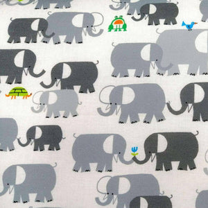 Elephants by Ed Emberley - 100% Organic Cotton - Cloud9 Fabrics | Ab Fab Textiles