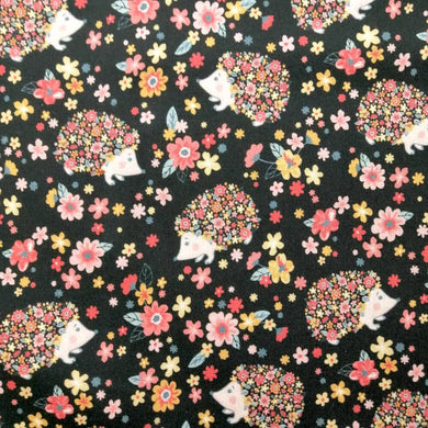 Floral Hedgehogs Cotton Print - Extra Wide | Ab Fab Textiles