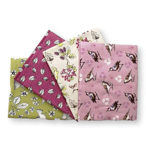 Garden Birds Multi Birds Fat Quarter Bundle of 4 | Ab Fab Textiles