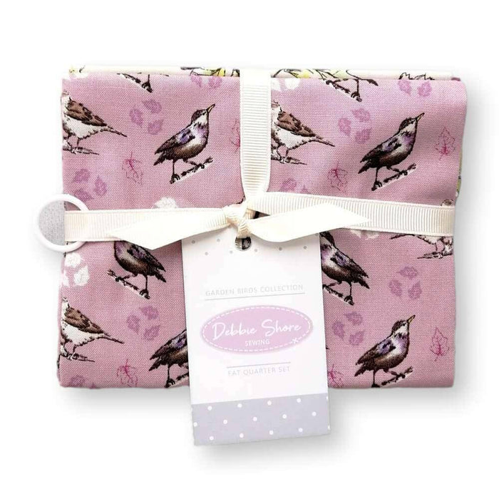 Garden Birds Multi Birds Fat Quarter Bundle of 4
