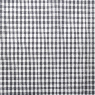 Grey Gingham Check Cotton Print - Extra Wide | Ab Fab Textiles