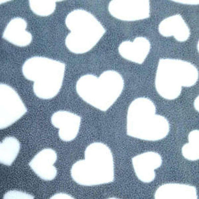 Grey Hearts Anti Pilling Polar Fleece | Ab Fab Textiles