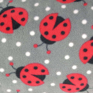 Grey Ladybirds Anti Pilling Polar Fleece - Ab Fab Textiles