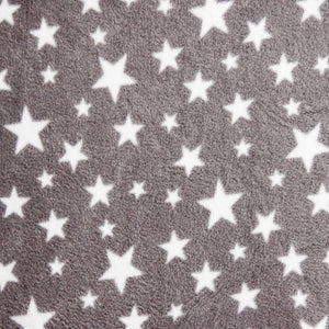 Grey Stars Anti Pilling Polar Fleece | Ab Fab Textiles