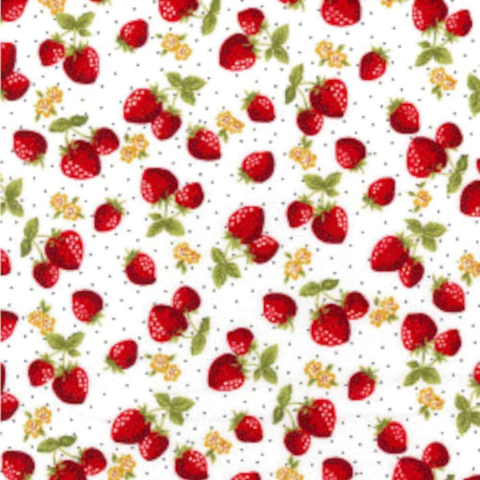 Strawberry on Ivory Cotton Print