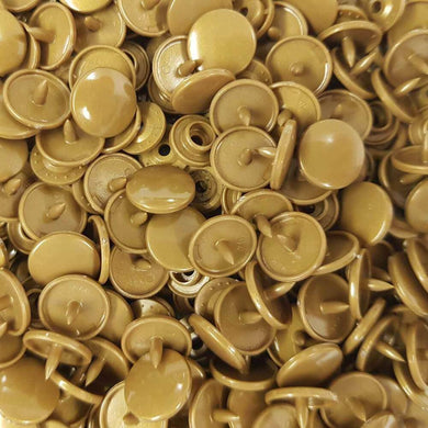 B11 - Gold - Size 20 Glossy KAM Snaps | Ab Fab Textiles