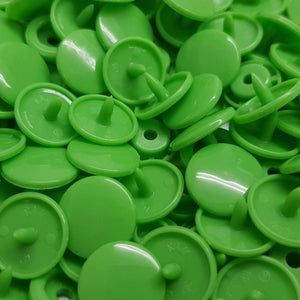 B14 - Spring Green - Size 20 Glossy KAM Snaps | Ab Fab Textiles