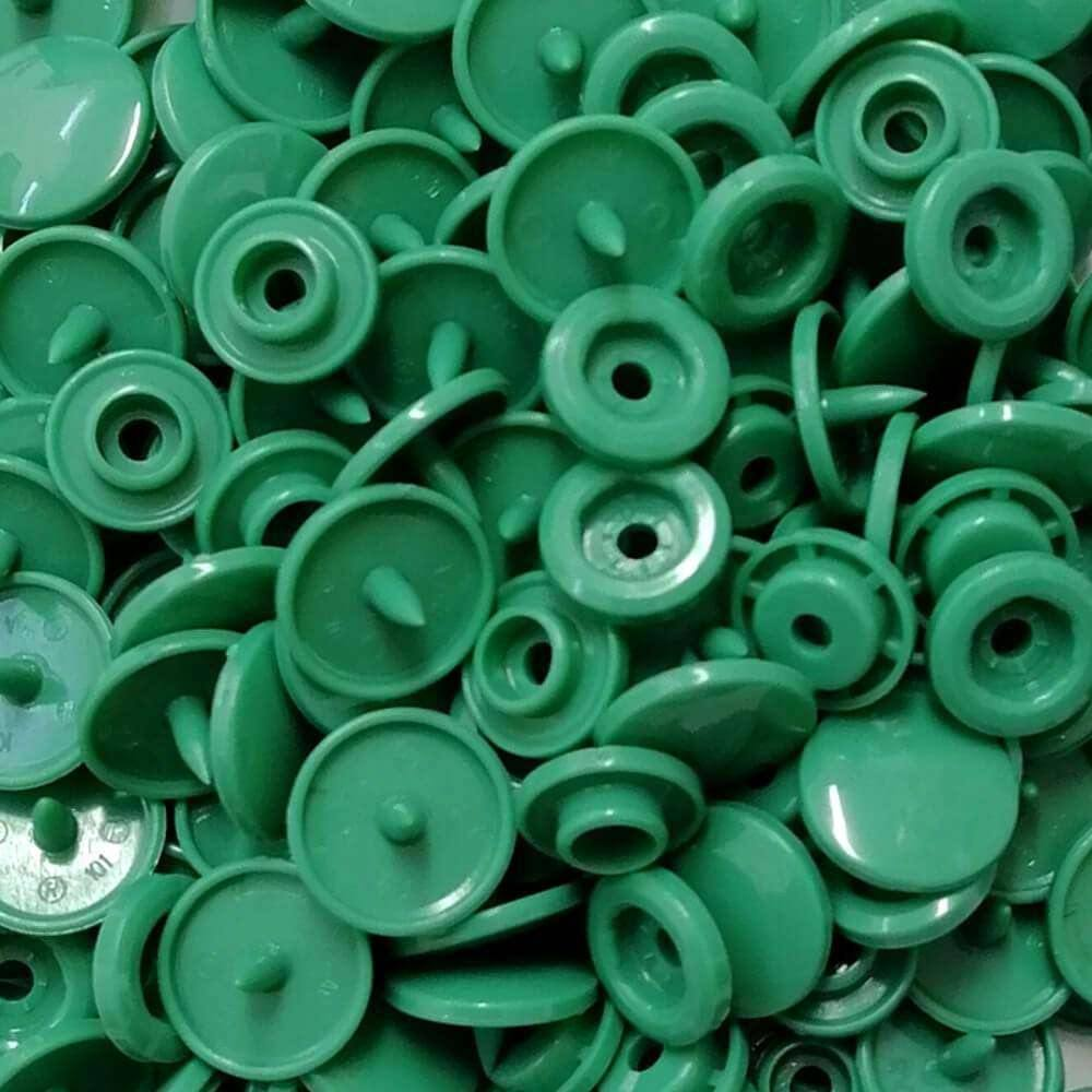 B29 - Jade Green - Size 20 Glossy KAM Snaps | Ab Fab Textiles