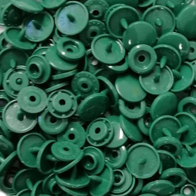 B31 - Hunter Green - Size 20 Glossy KAM Snaps | Ab Fab Textiles
