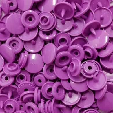 B41 - Violet - Size 20 Glossy KAM Snaps | Ab Fab Textiles