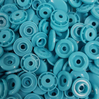 B46 - Teal - Size 20 Glossy KAM Snaps | Ab Fab Textiles
