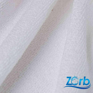 Zorb® Microfiber Terry Plus Fabric in White per metre | Ab Fab Textiles