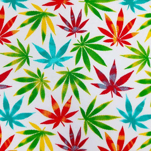 Multicolour Marijuana Leaf Cotton Print | Ab Fab Textiles