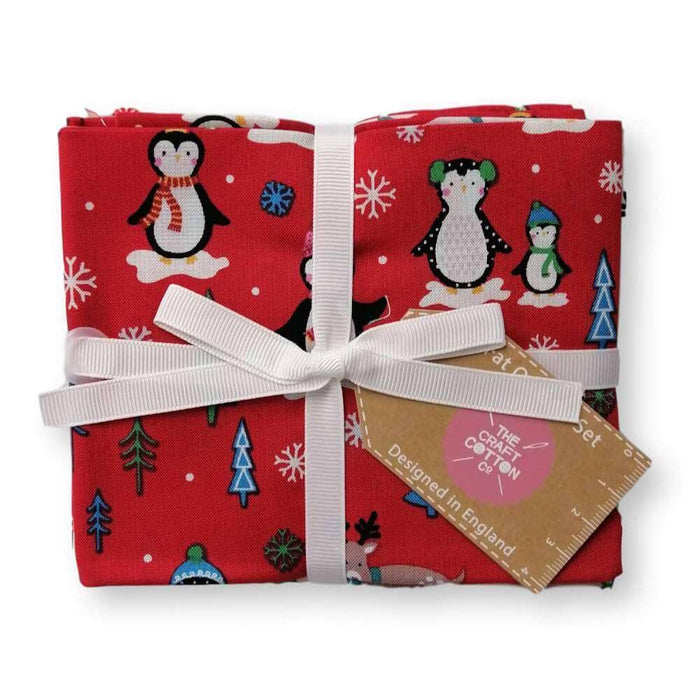Novelty Christmas Fat Quarter Bundle of 5