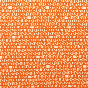 Orange Scribbles - 100% Organic Cotton - Cloud9 Fabrics | Ab Fab Textiles