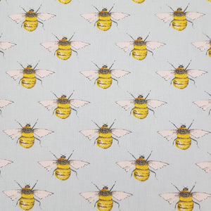 Pale Blue Bees Cotton Print | Ab Fab Textiles