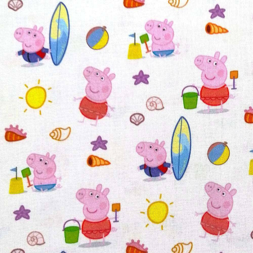 Peppa Pig Beach Day Cotton Poplin - Extra Wide | Ab Fab Textiles