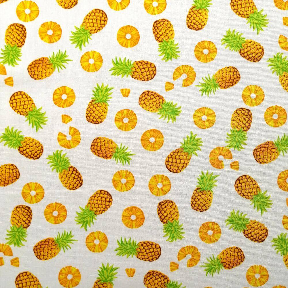 Ivory Pineapple Cotton Print | Ab Fab Textiles
