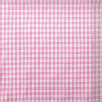 Pink Gingham Check Cotton Print - Extra Wide | Ab Fab Textiles