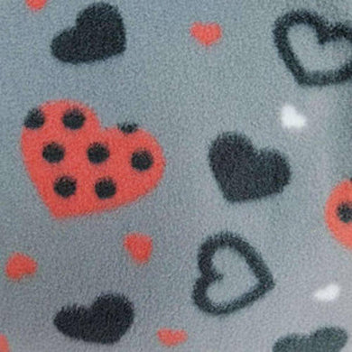 Polka Hearts Anti Pilling Polar Fleece | Ab Fab Textiles