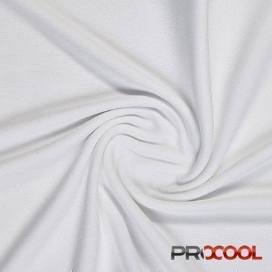 White ProCool® Dri-QWick™ Sports Mesh Fabric with COOLMAX® | Ab Fab Textiles
