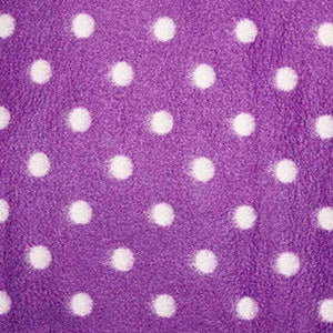 Purple & White Spot Anti Pilling Polar Fleece | Ab Fab Textiles
