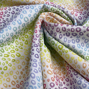 Rainbow Leopard Cotton Print - Little Johnny - Extra Wide | Ab Fab Textiles