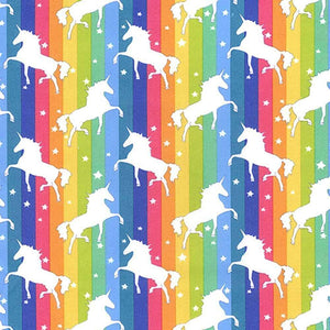 Bright Rainbow Unicorn Cotton Print | Ab Fab Textiles