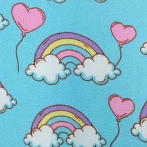 Rainbow Heart Anti Pilling Polar Fleece | Ab Fab Textiles