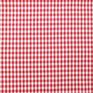 Red Gingham Check Cotton Print - Extra Wide | Ab Fab Textiles