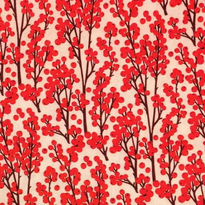 Redcurrant Berries Cotton Print - Little Johnny - Extra Wide