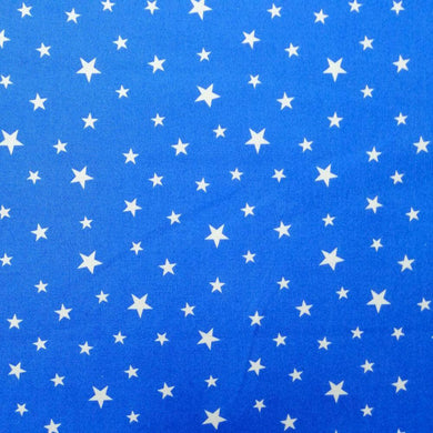 Royal Blue Stars Cotton Print | Ab Fab Textiles