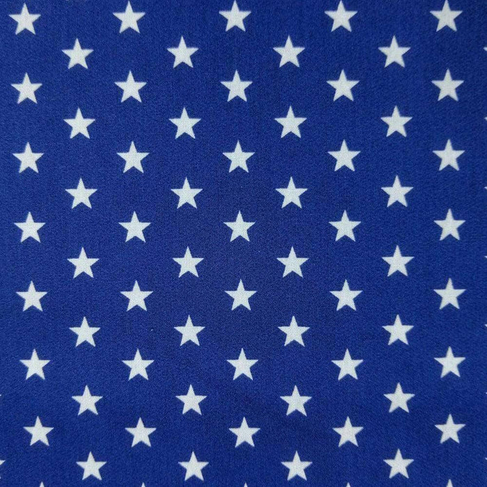 Royal Stars Cotton Print - Extra Wide