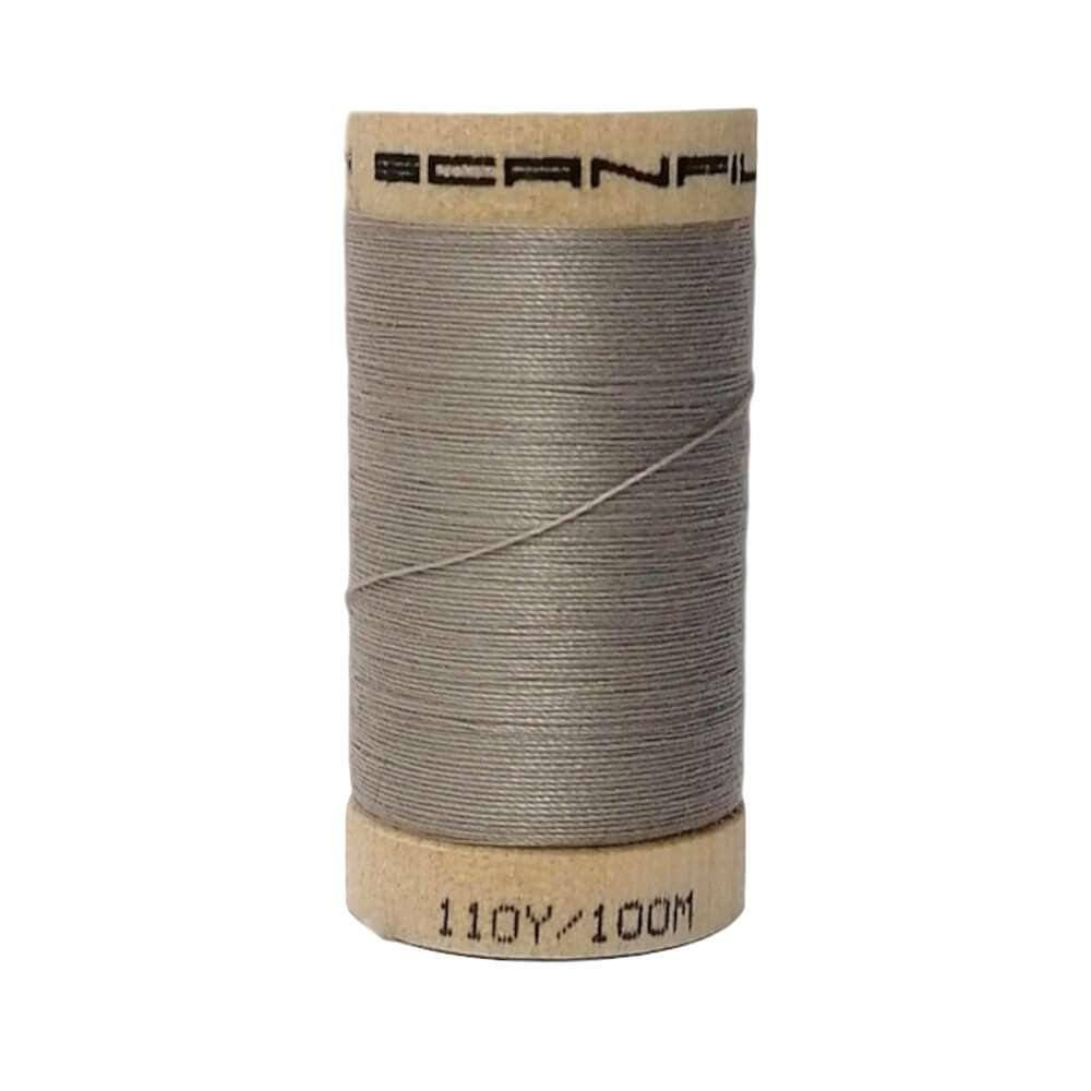 Silver (4831) - 100% Organic Cotton Thread - 100m | Ab Fab Textiles