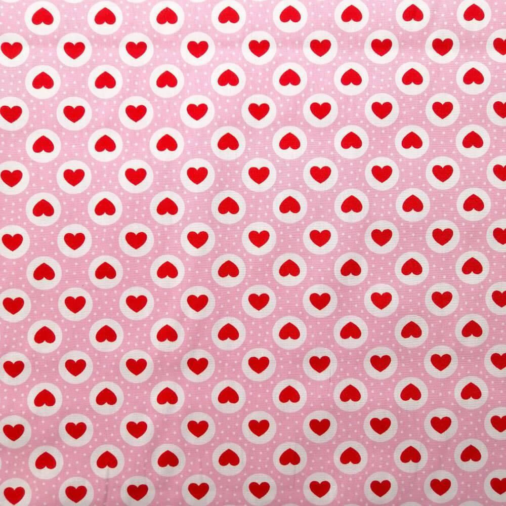 Pink Small Hearts Cotton Print | Ab Fab Textiles