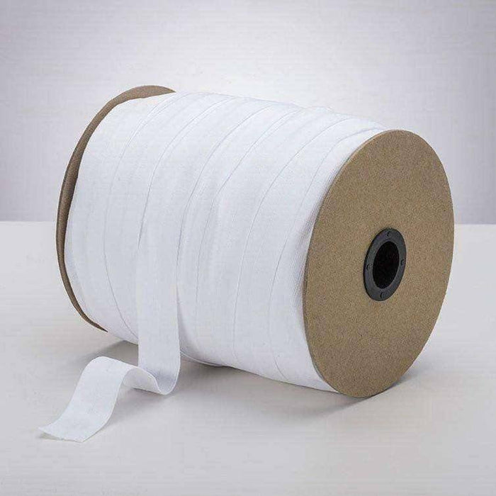 "White 1"" ProStretch™ Plush Fold Over Elastic (FOE)"