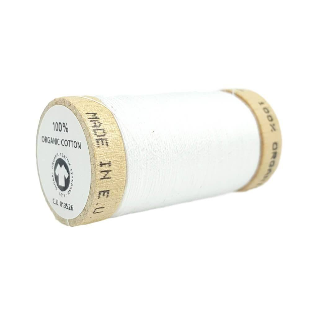 White (4800) - 100% Organic Cotton Thread - 100m | Ab Fab Textiles