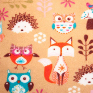 Woodland Creatures Anti Pilling Fleece - Half Metre - Ab Fab Textiles