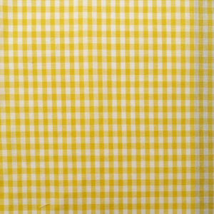 Yellow Gingham Check Cotton Print - Extra Wide | Ab Fab Textiles