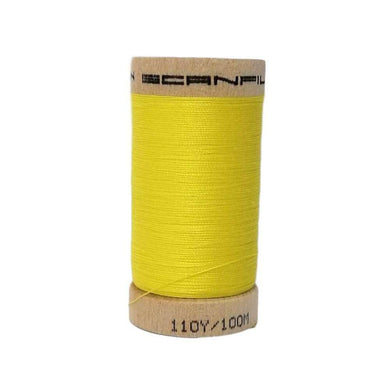 Yellow (4803) - 100% Organic Cotton Thread - 100m | Ab Fab Textiles